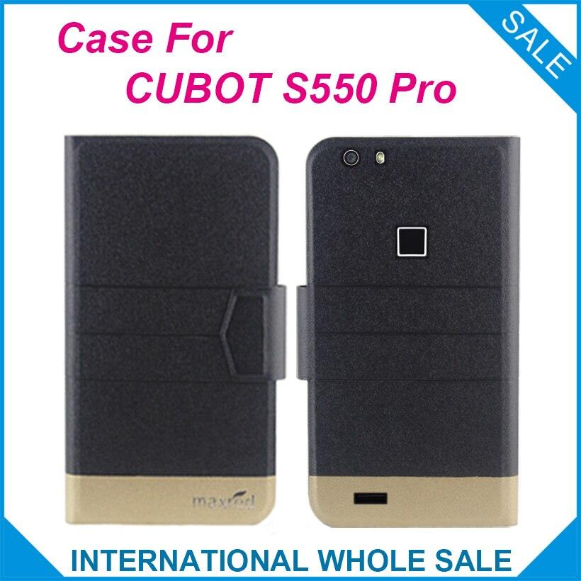 ¡5 colores originales! Funda CUBOT S550 Pro de gran calidad con tapa ultrafina de cuero de lujo para CUBOT S550 Pro
