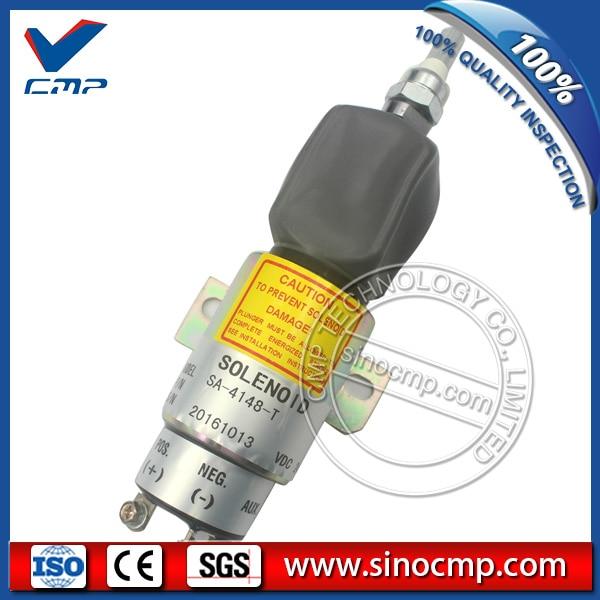 24v fuel stop solenoid switch SA-4148-T 1751-24E7U1B1A for Hyundai R160LC-7