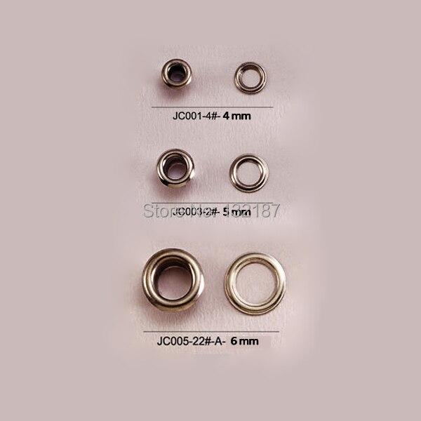 Venta al por mayor, 500 piezas por lote, argollas metálicas de latón con arandela 4/5/6mm, arandelas redondas pequeñas de metal, color níquel, envío gratis JY-001