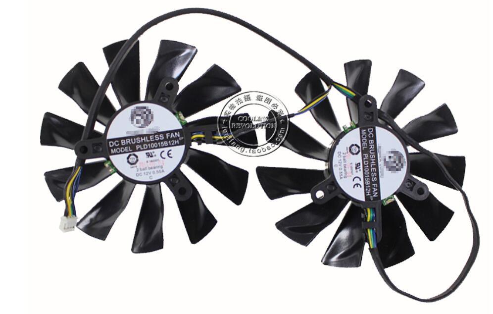 Новинка для MSI GTX770 GTX680 GTX 770 680 R7970 Lightning для POWER LOGIC PLD10015B12H 4Pin видео GPU видеокарта охлаждающий вентилятор