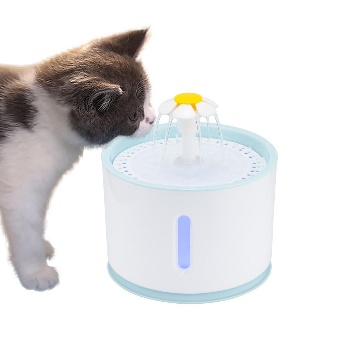 Lemonbest, recipiente para mascotas automático, dispensador de agua potable, fuente de beber para mascotas eléctrica con filtro de bebida LED