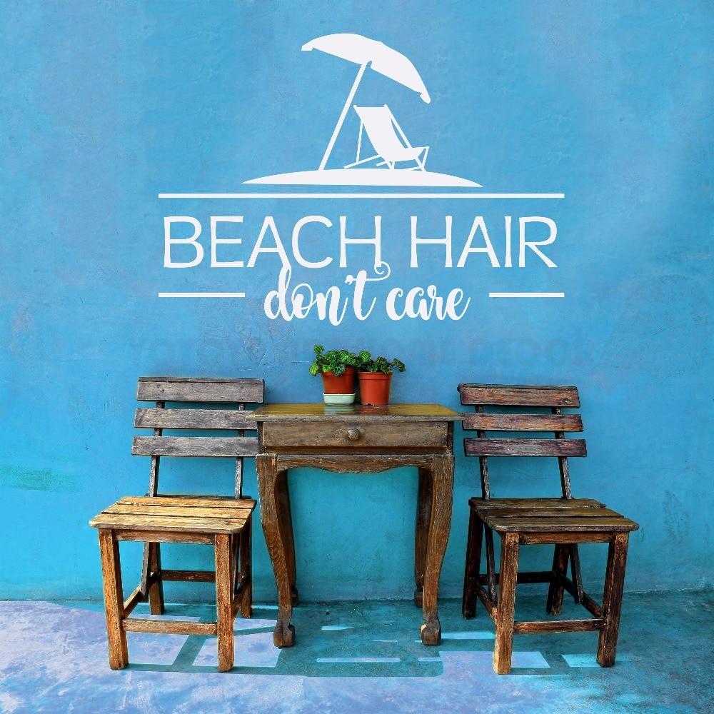 Océano Tema de pared playa pegatina para pared con frase playa cita para casa de vacaciones decoración belleza ornamento cartel Mural W216