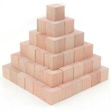 36 teile/satz Hohe qualität Buche Cubic Ziegel Spiel 4cm Würfel DIY farbe Blöcke Holz Pädagogisches Spielzeug Für Baby Kinder
