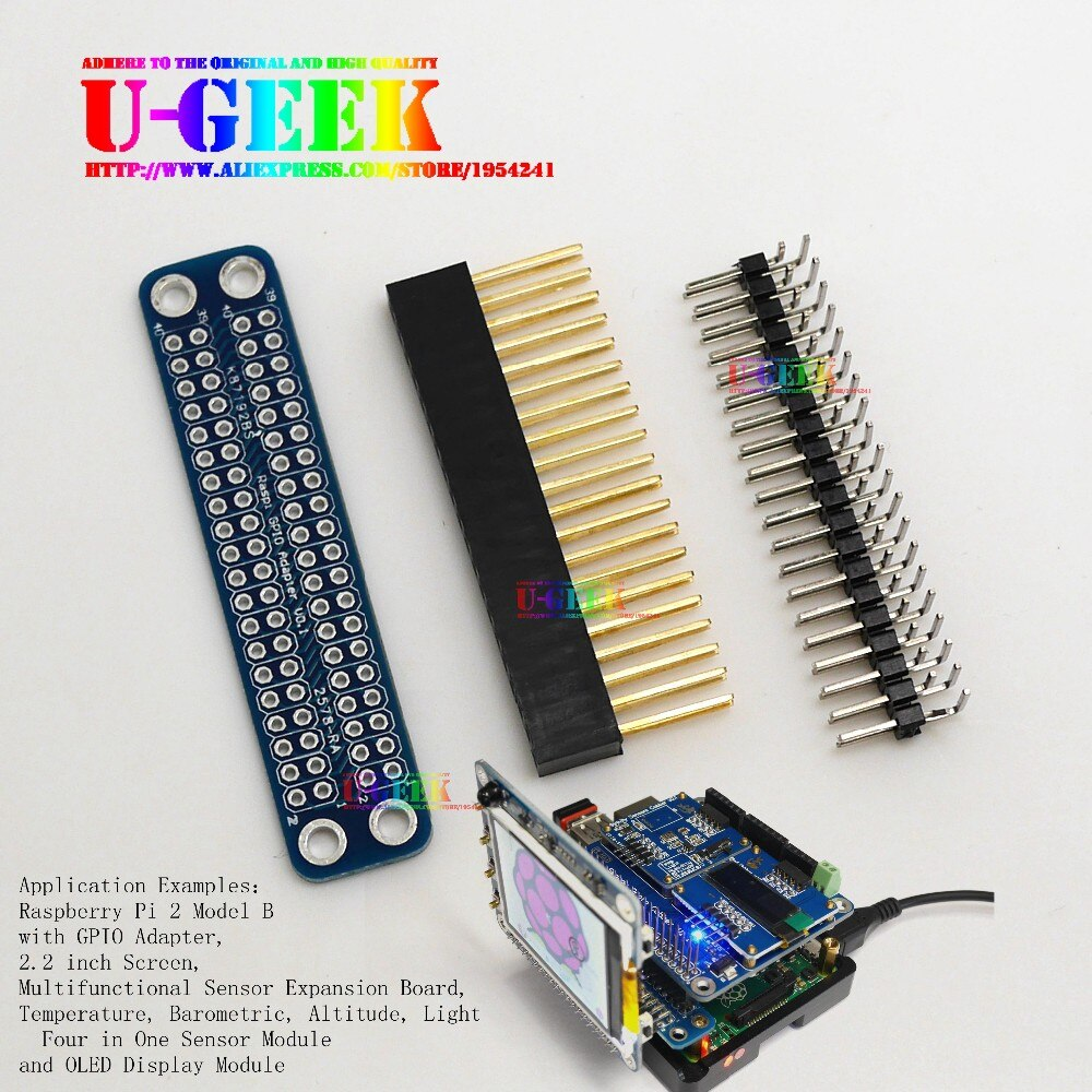 UGEEK Original Unassembled/Assembled Double GPIO Adapter for Raspberry Pi 4B ,3B,3B+,3A+,2B,A+,B+, Zero|Transfer GPIO to Front easy steps to chinese for kids french edition textbook 1a 1b 2a 2b 3a 3b 4a 4b workbook 1a 1b 2a 2b 3a 3b 4a 4b