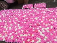 10pcslot pink wedding flower artificial silk rose flower wall wedding background lawnpillar flower wedding supply