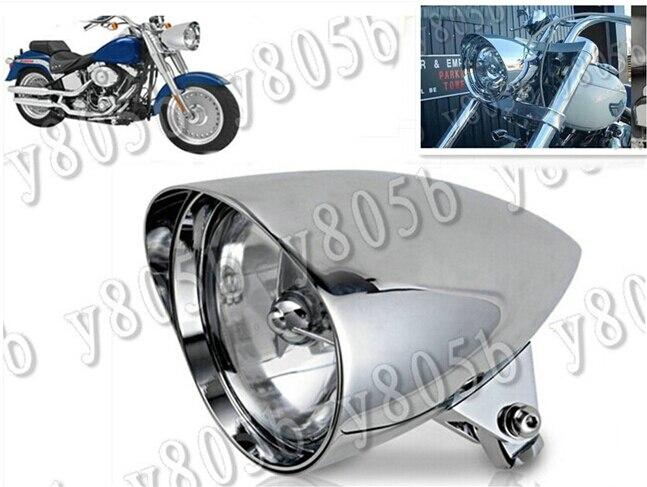 "Moto barre Chrome Tri 5.75 ""  Phare pour Kawasaki Vulcan Classic VN 400 VN500 VN800 VN 900 1200 1500 1600 2000"