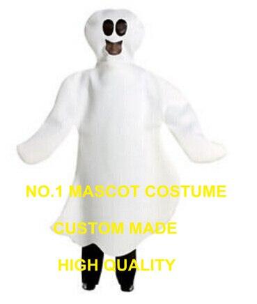 Divertido disfraz de halloween blanco fantasma mascota barato envío gratis dibujo de fantasma tema anime cosplay disfraces carnaval vestido de fantasía 2557