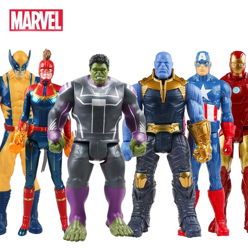 30 см Мстители Marvel Endgame танос Человек-паук Халк Бастер Железный человек Капитан Америка Тор Росомаха фигурка игрушка для мальчика подарок