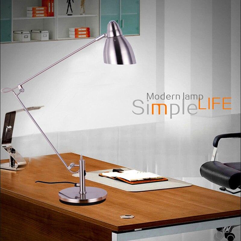 Marmenkina moderno de alta calidad lámpara de escritorio con clip Oficina lámpara de escritorio Led Flexible lámpara de mesa de lámpara de lectura AC110V 220V 230V 240V
