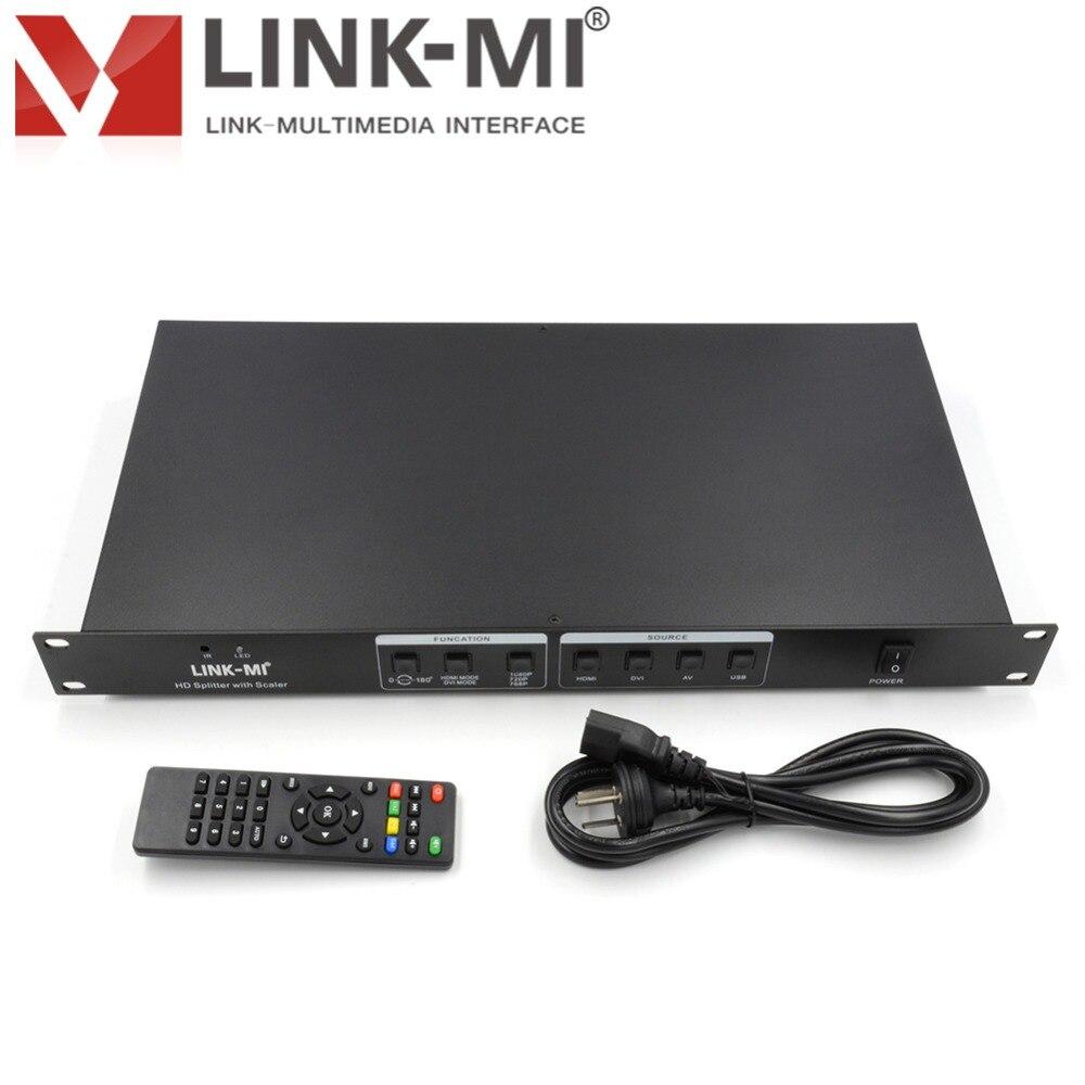 LINK-MI LM-SP49 HD divisor con Scaler entrada HDMI + AV + VGA + USB 9 pantalla S