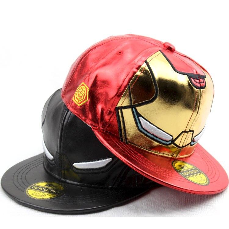 3 estilos talla para niños Iron man vengadores gorras de béisbol Iron Man personaje de dibujos animados sombreros y gorras Casuales