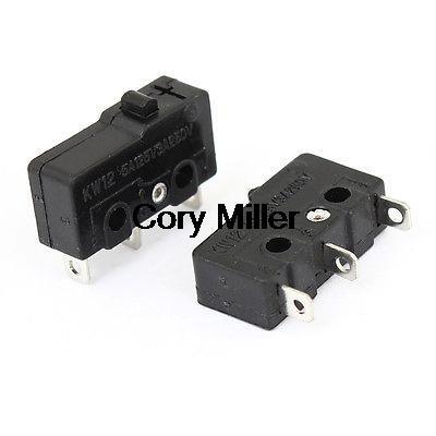 Botón KW12 miniatura Micro interruptor negro