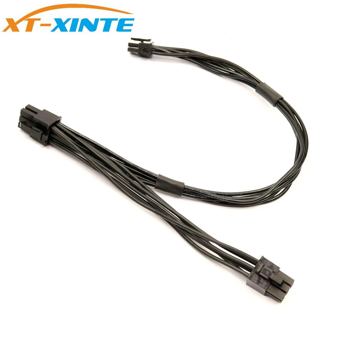 XT-XINTE placa base 6 pines tipo pequeño a 2 puertos PCI-E PCIe 6 pines Cable de alimentación Tarjeta de visualización de vídeo gráficos para Mac Pro /G5
