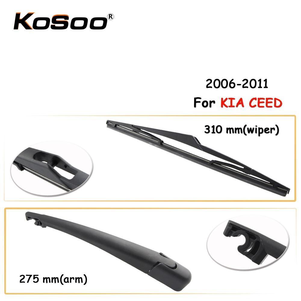 Kosoo auto escobilla limpiaparabrisas trasera para KIA CEED, 310 mm 2006-2011 limpiaparabrisas de ventanilla trasera cuchillas brazo, accesorios de coche estilo