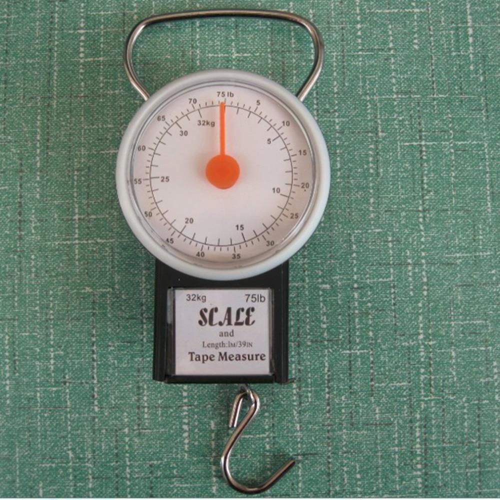 Balanza colgante portátil de 22kg, balanza de pesca, balanza de pesaje, balanza de cocina con cinta métrica, báscula de pesca
