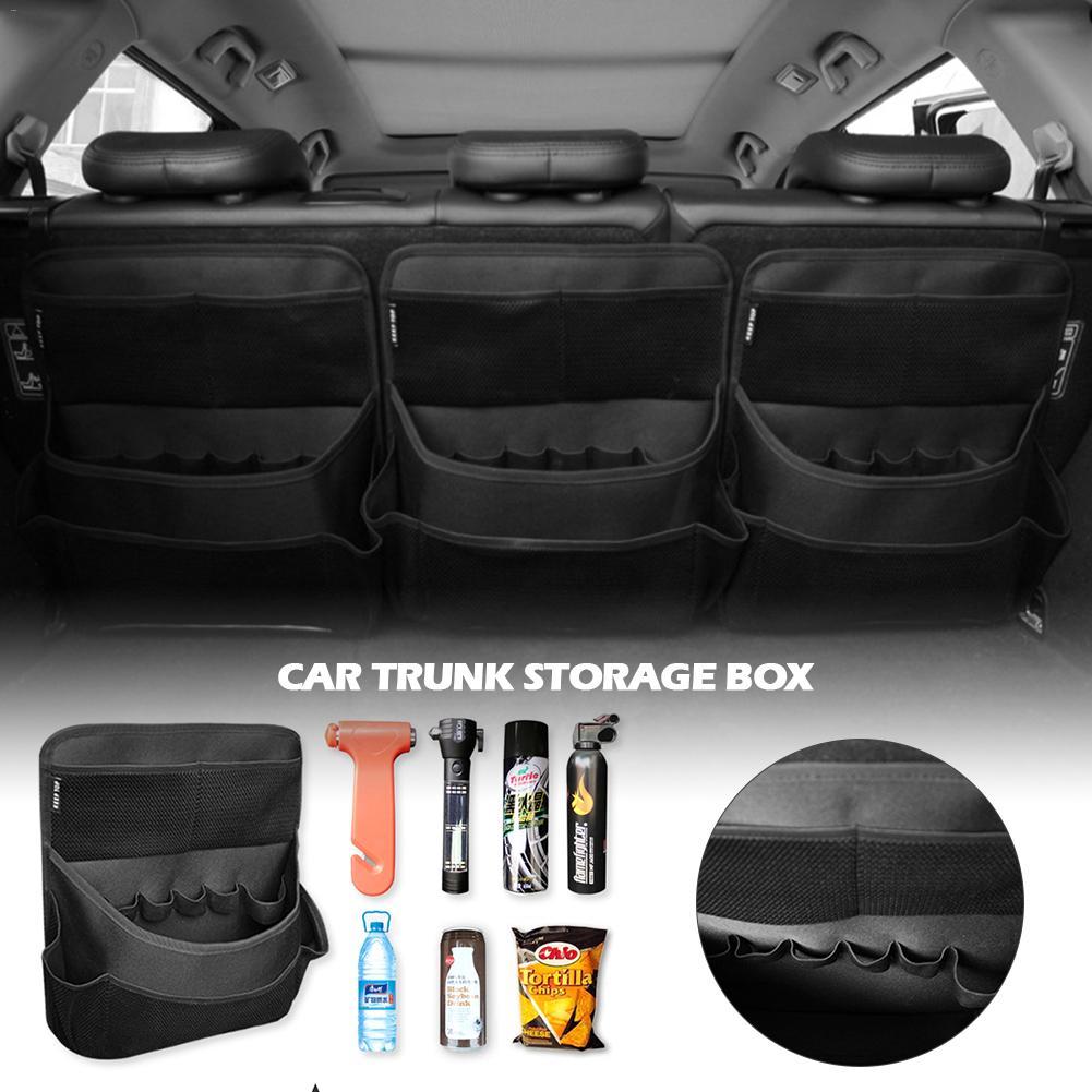 Car Backseat Organizer Auto Trunk Storage Bag Car Organizer Back Seat Interior Accessories Mesh Pockets For SUV Vehicle Truck