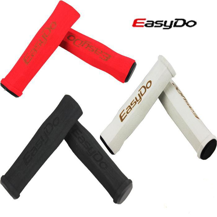 1 par de mangos suaves de esponja de bicicleta Easydo MTB/manillar plegable para bicicleta juegos antideslizantes empuñaduras accesorios de bicicleta Rojo Negro Blanco