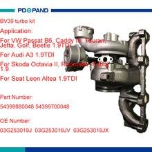 Kit de turbo BV39 turbolader para VW Passat B6 Caddy III Touran Jetta Golf escarabajo AUDI A3 1.9L 03G253019J 03G253019JX 03G253019JV