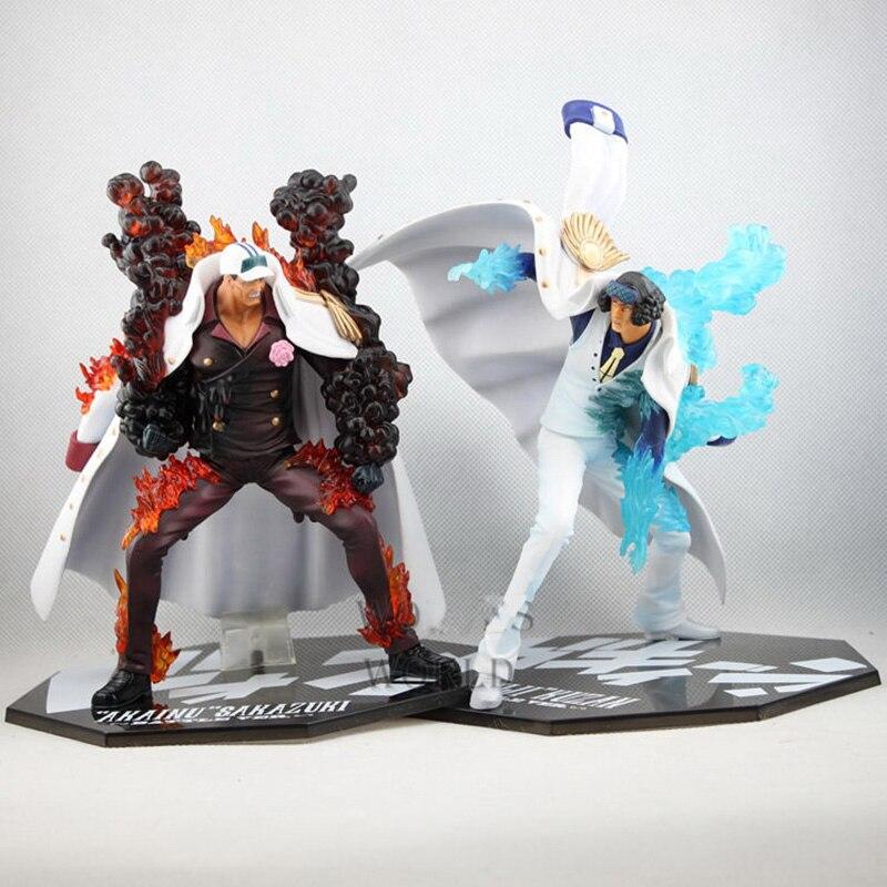 Uma peça battler ver. Sakazuki vs. kuzan figura de ação aokiji kuzan vs. akainu sakazuki pvc figura brinquedo brinquedos anime 21-23cm