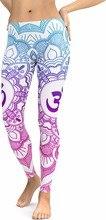 JIGERJOGER 2018 Nuovo Blu dissolvenza Rosa Mandala Ghette delle Donne Più Il formato XL Athletic Yoga Leggings Corsa e Jogging allenamento fitness pantaloni