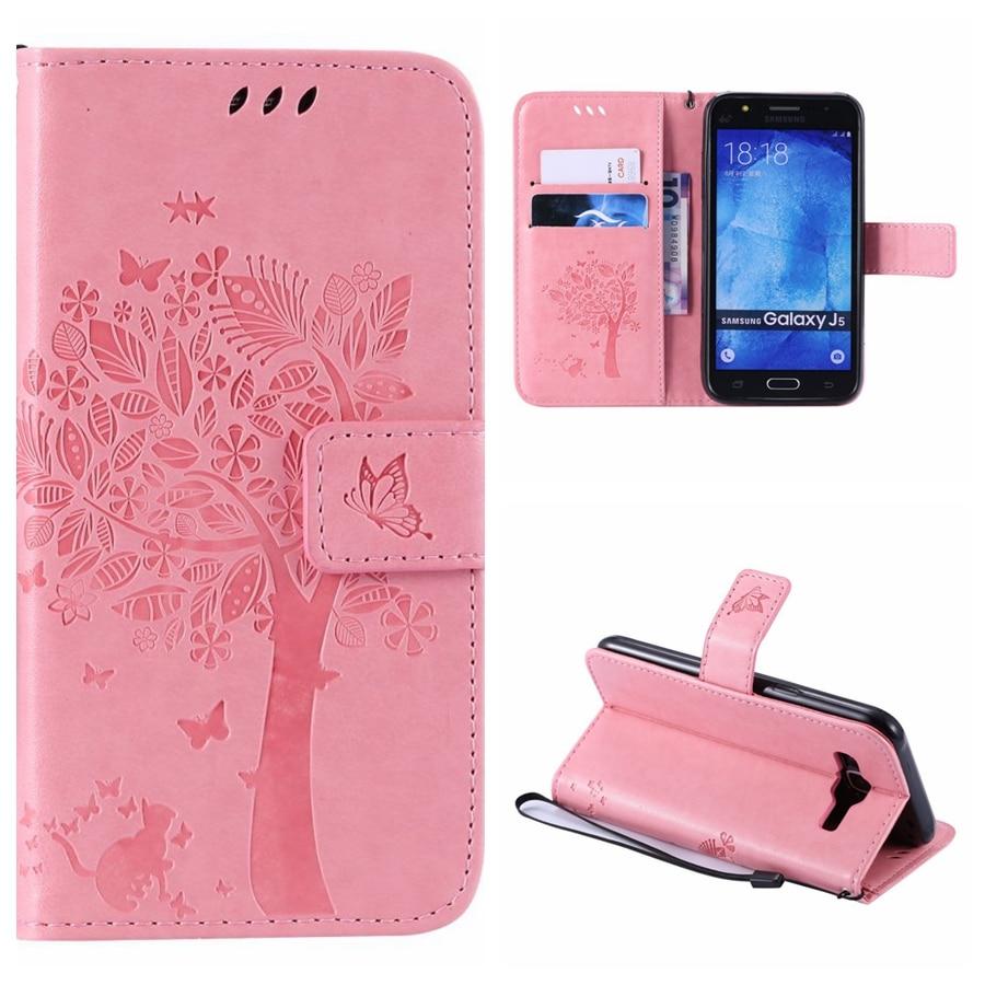 Wallet Magnet Flip Cover Leather Case For Samsung galaxy J5 2016 J510 J510F case For Samsung J5 2015 J500 Coque 3D Pattern