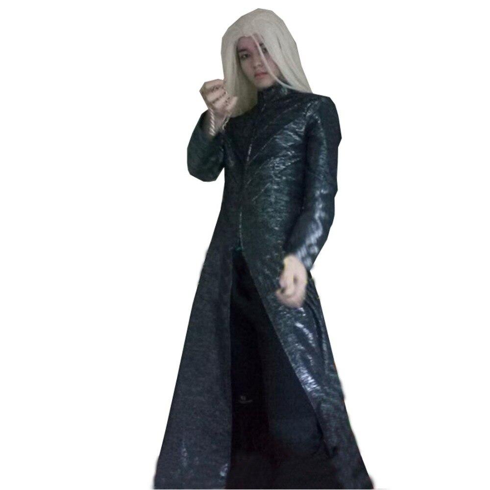 Disfraz de Cosplay de la desolación de Smaug Thranduil, solo abrigo largo, 2018