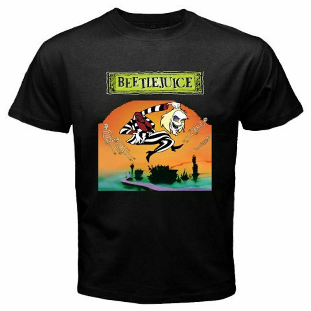 Nueva camiseta Beetlejuice de estilo clásico Americano de película de terror para hombre, camiseta con S-3XL de tamaño, Camiseta con estampado de jurney Cool xxxtentacion rompevientos gato Pug
