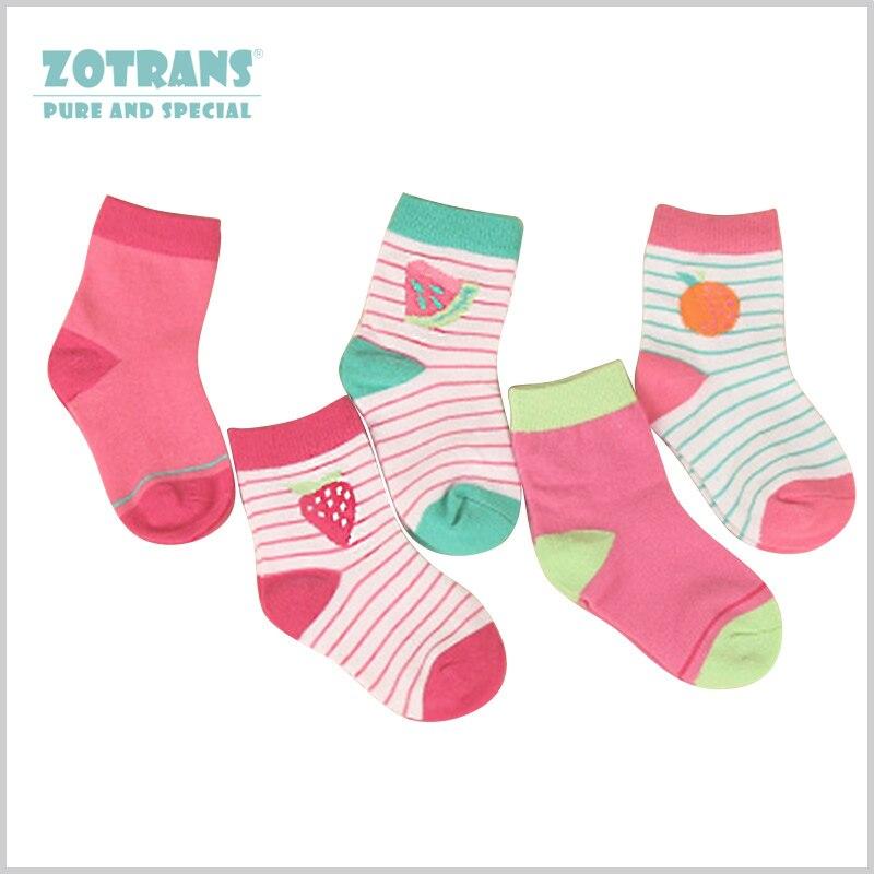 5 Pair/lot Baby Girl Stripes Socks 5 Kinds Style Soft Cotton Infant Socks Cute Cartoon Pattern Kids Socks For Autumn Baby Girl