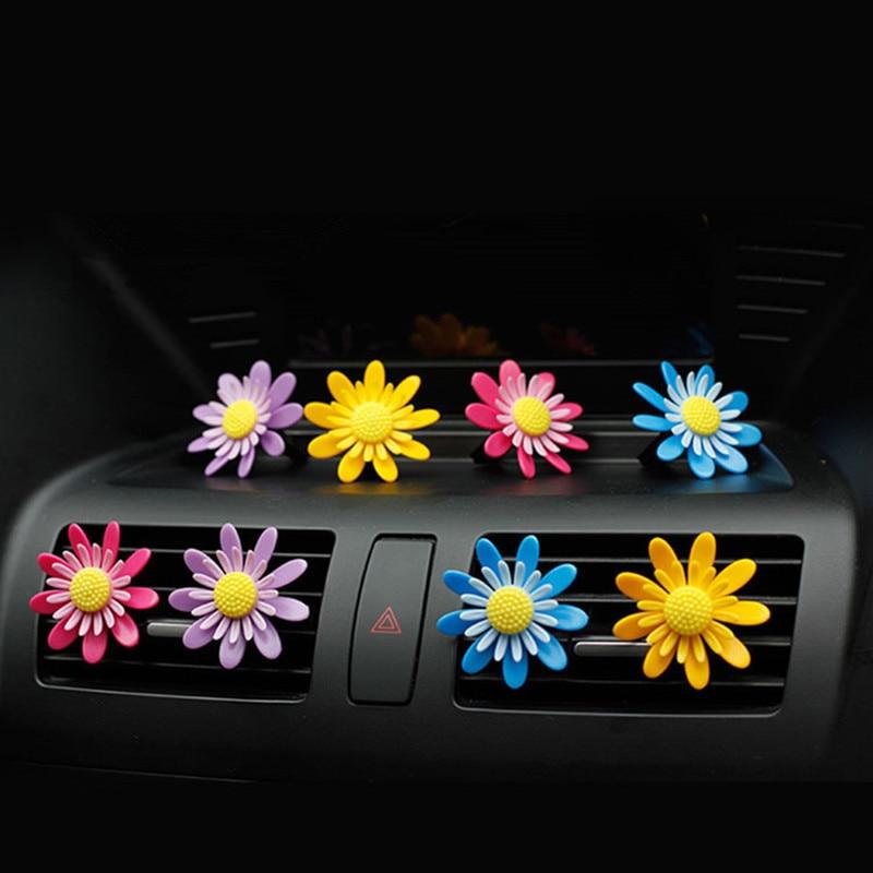 Auto Parfüm Lufterfrischer Outlet Clip Drehen Sonne Blume Auto Air Vent Parfüm Klimaanlage Auto Lufterfrischer Auto-styling