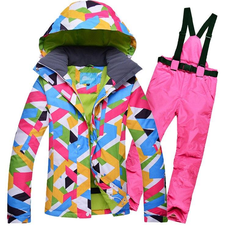 ملابس ثلج غير جنسية, ملابس رياضية رخيصة للبالغين معدات ملابس خارجية سترات تزلج برتقالية مقاومة للرياح ومقاومة للماء مع حزام