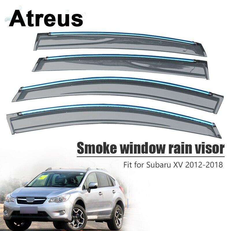 Atreus For Subaru XV 2012 2013 2014 2015 2016 2017 2018 Car Accessories Door Smoke Window Sun Rain Visor Wind Deflectors Guard
