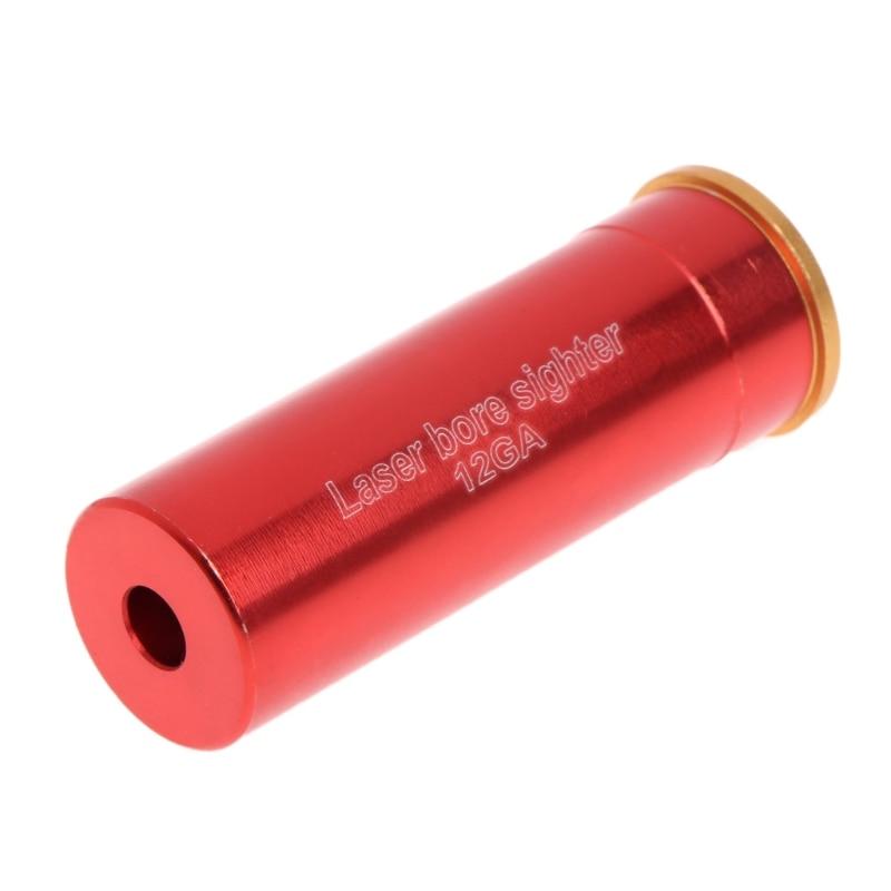 1pcs Red Dot Laser Bore Sight 12 Gauge Barrel Cartuccia Per 12GA Calibro Laser Lunghezza D'onda 635-655nm