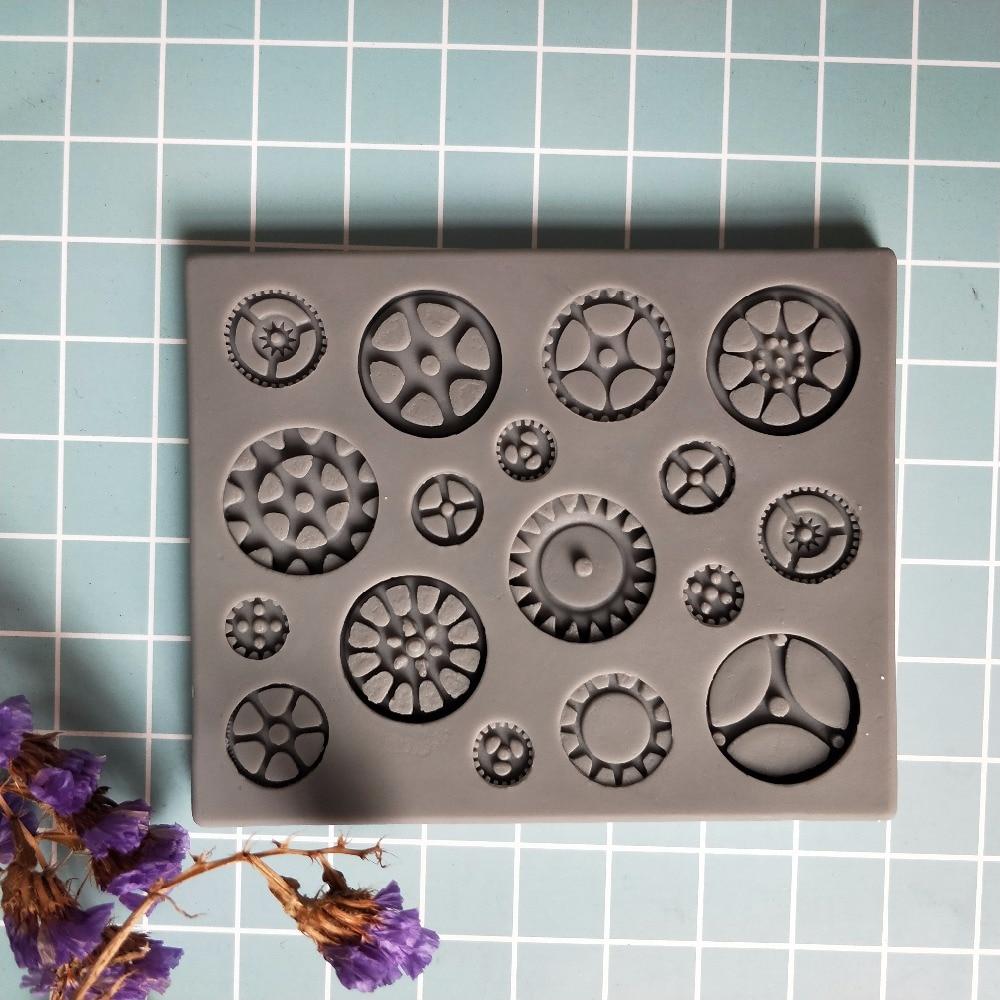 PRZY molde de silicona de grado alimenticio para fondant moldes para decorar pasteles DIY chocolate dulces moldes artesanales de azucar