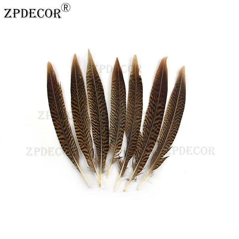 Plumas de la cola de faisán dorado de 8-10 20-25CM para hacer joyería artesanal DIY
