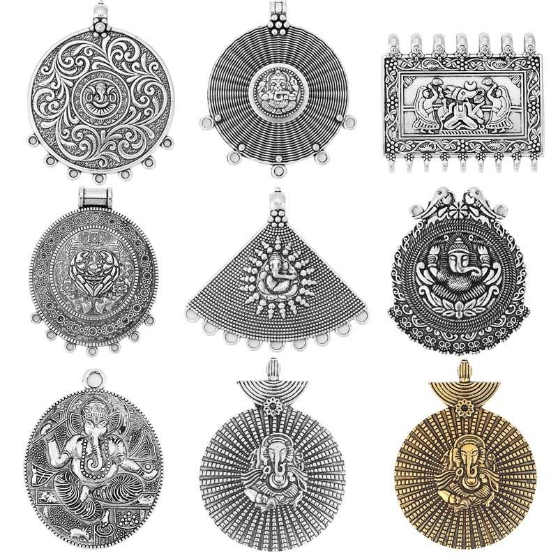 2 шт индийский бог Ганеш СЛОН БУДДА соединитель подвески цветок подвески для ожерелья делая результаты