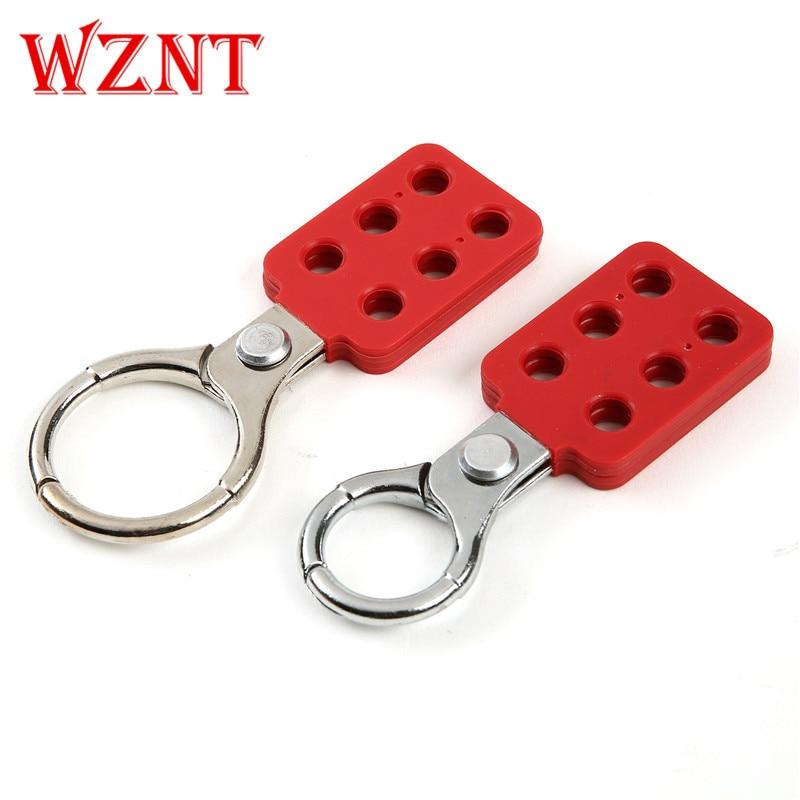 Защелка с замком 1 1,5, алюминиевый корпус, ножничное устройство 25 мм 38 мм, диаметр губки, красное пластиковое покрытие