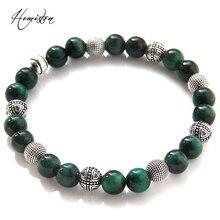 Thomas croix, héros, perles de tigre vert Bracelet élastique, pierre naturelle rebelle coeur Style bijoux pour femmes et hommes TS 419