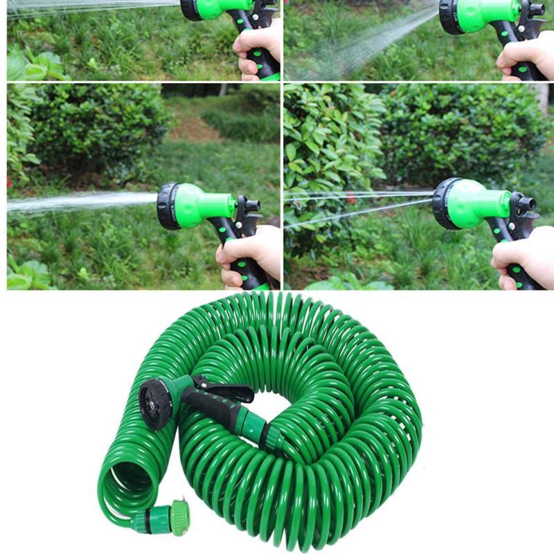 Расширяемый садовый шланг для полива труб распылитель автомобиля комплект