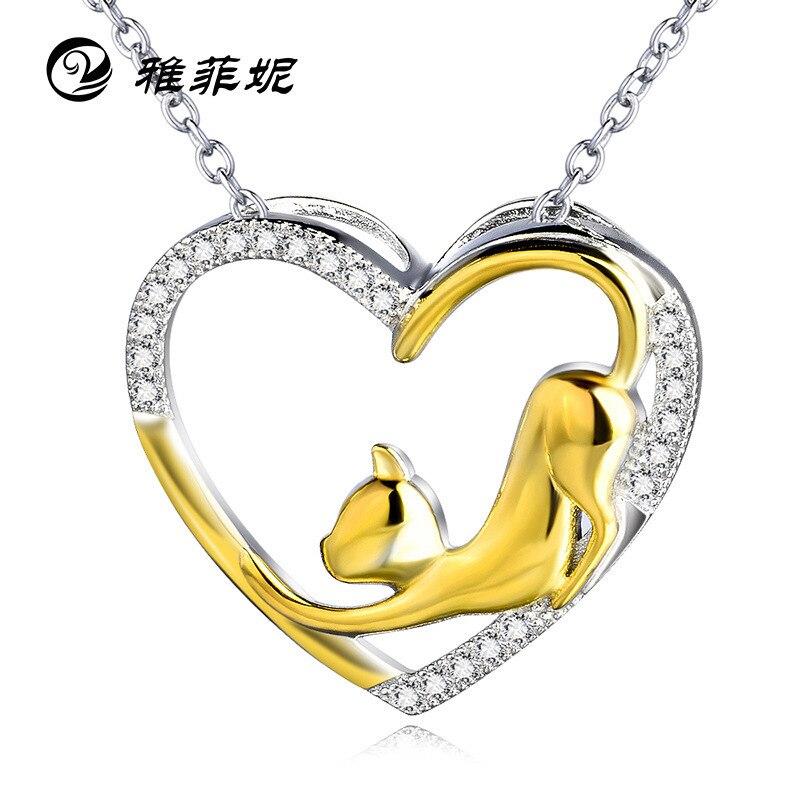 Amazon speed sell pass 2016 Collar de plata estilo caliente animal modelado chapado en oro colgante Micro fuente de plata
