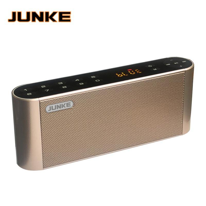 JUNKE HIFI Bluetooth Speaker Portable Wireless Super Bass Dual Speakers Soundbar With Mic TF FM Radio USB Sound Box Column