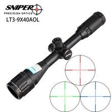 Lunette de chasse Sniper LT 3-9X40 AOL 1 pouce pleine grandeur tactique optique vue illuminer Mil-Dot verrouillage réinitialiser la portée du fusil