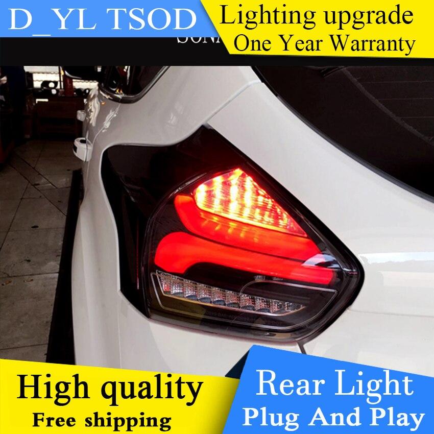 Diseño de coche para Ford Focus 2 luces traseras 2015-2018 para foco 2 luces traseras LED Taillamp DRL + freno + Parque + parada de señal + Luz de marcha atrás