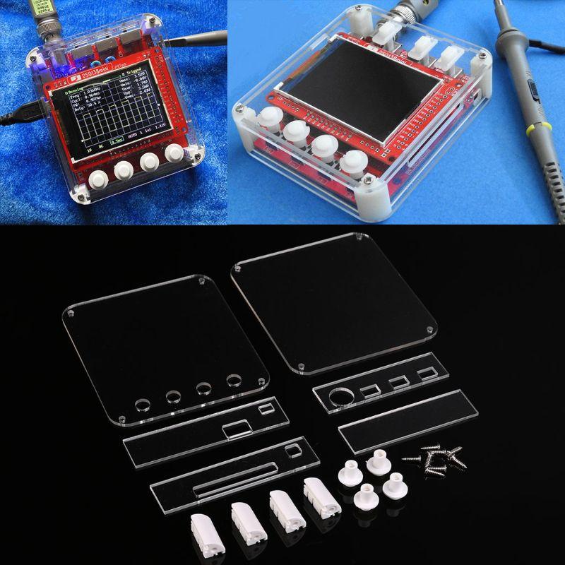 DSO138mini Digital Oscilloscope Kit DIY Learning Pocket-size DSO138 Upgrade+Acrylic Protection Case