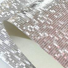 Papier peint 3D mosaïque à paillettes   Rouleaux De papier peint mural, Papel De paréo, couleur unie argent or, papier peint mural De plafond, décoration De maison
