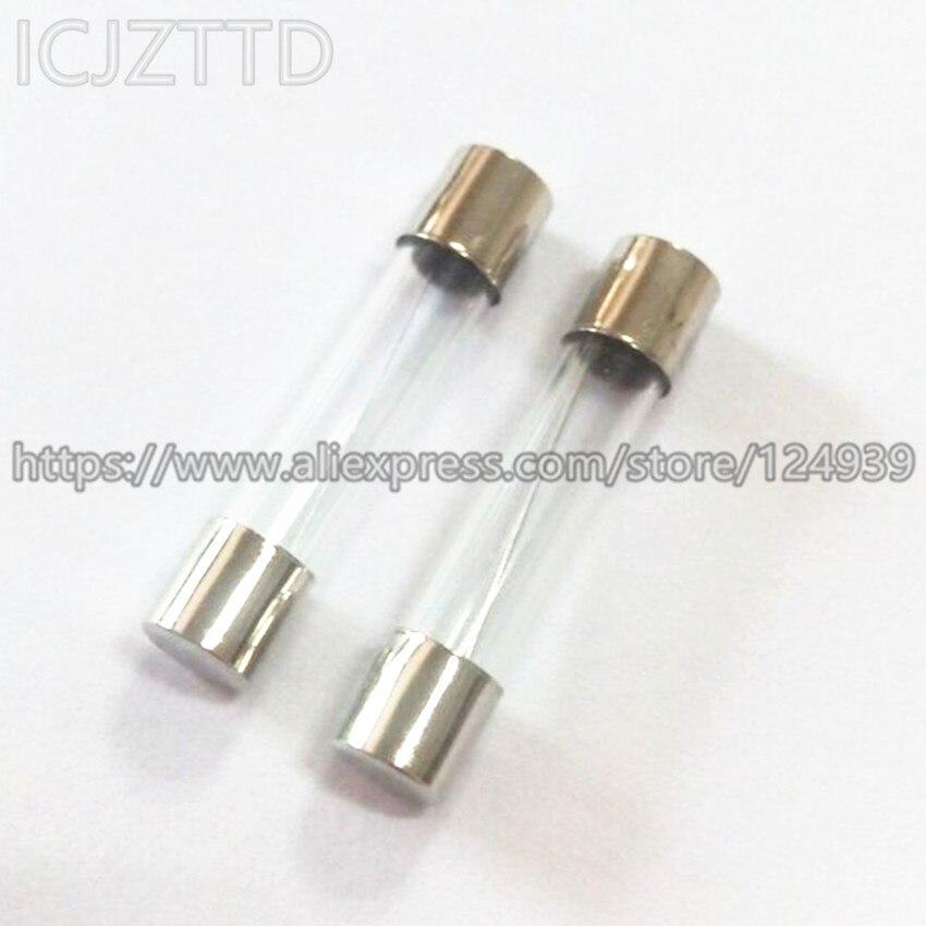 10 Uds 250V 0.5A 1A 2A 3A 4A 5A 6A 7A 8A 10A 12A 15A 20A 6.3A F1A 6*6*30 6x30x6MM * 30MM 6*30mm fusibles de cristal de Fusión Rápida Kit surtido