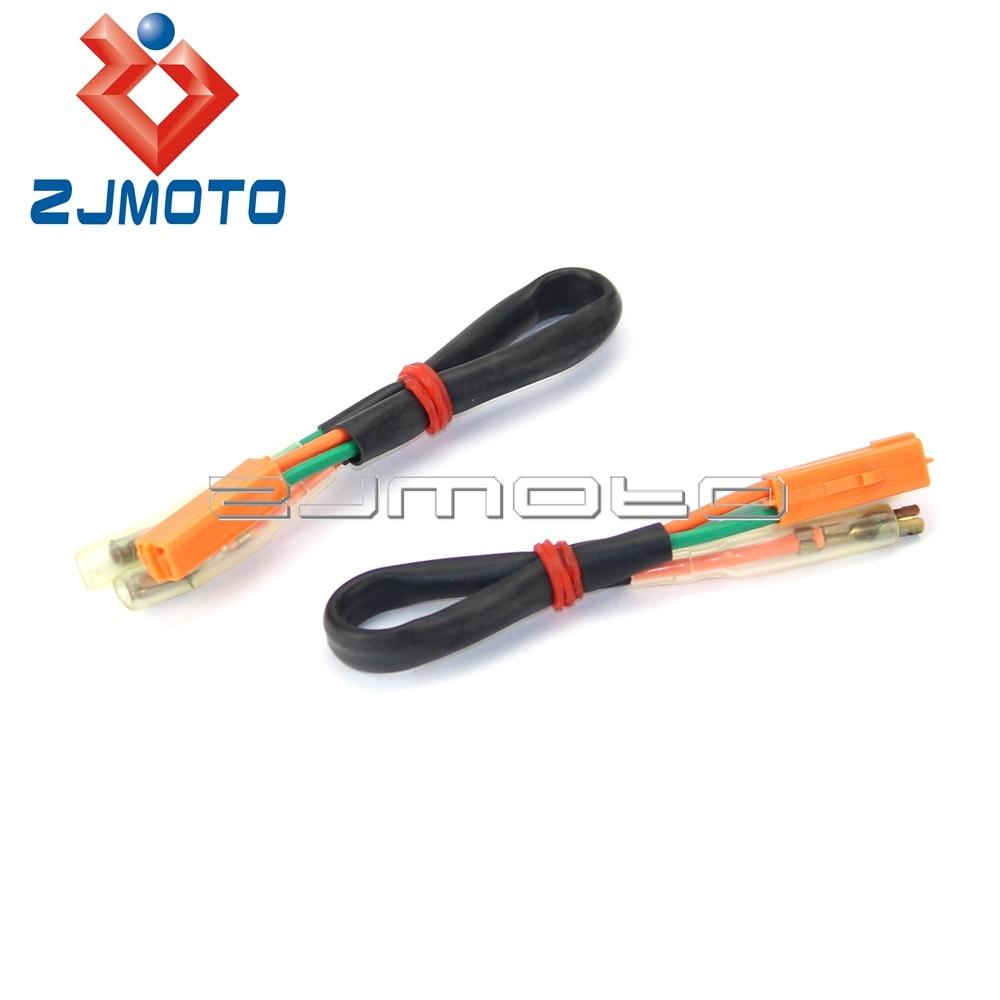 2x Turn Signal Adaptador Plug Conectores do Chicote de Fiação Para A Kawasaki ZR-X 1200R EX250 EX300 EX650 ZX600 ZX636 ZX900 ZX1000 Ninja