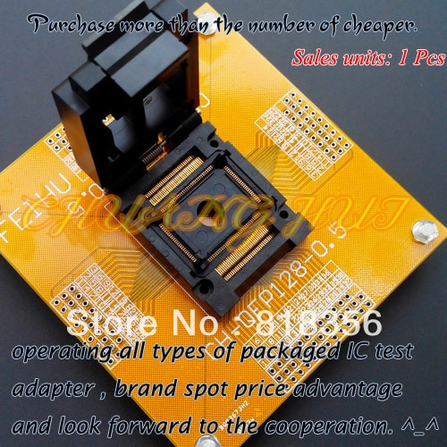 FPQ-128-0.5-03Test Socket IC Socket  TQFP128 QFP128 LQFP128 FPQ128 Test Socket  Pitch:0.5mm