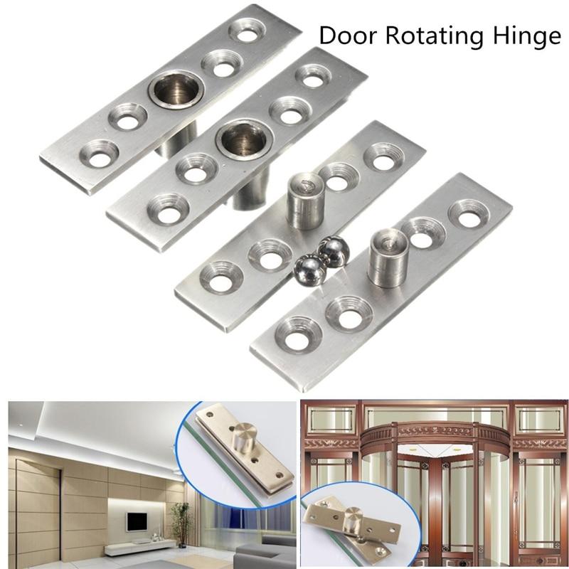 Bisagras pivotantes de puerta de acero inoxidable de 360 grados para puertas ocultas puertas de madera herrajes para muebles