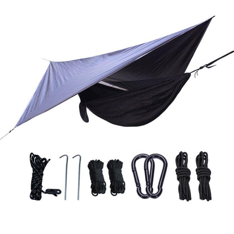 1-2 pessoas dormindo cadeira ao ar livre do mosquito rede net + set dupla utilização portátil camping toldo da barraca dossel