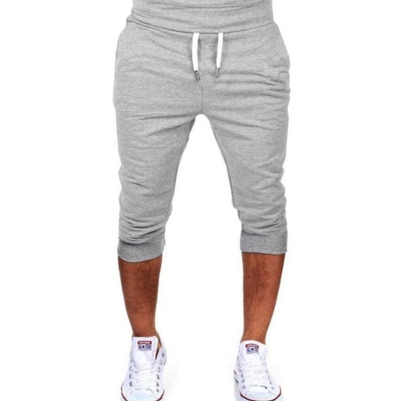 ¡Nuevo! Pantalones cortos informales de verano a la moda para hombre, ropa de Fitness corta y ajustada, pantalones cortos de culturismo para hombre, ropa XXXL de marca para hombre